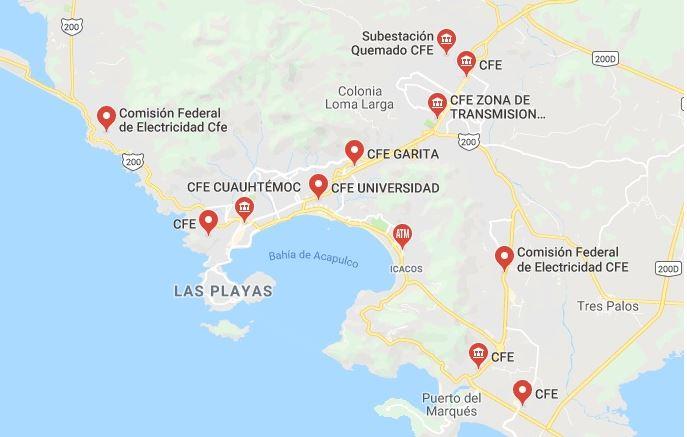 Oficinas CFE en Acapulco