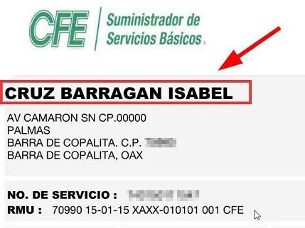Cambiar Titular Recibo de Luz CFE