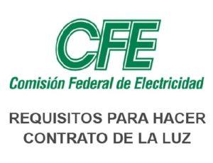 Nuevo Contrato CFE